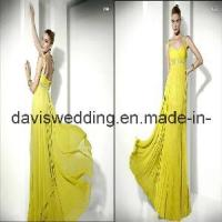 Best Yellow One-Shoulder Evening Dress (ED-34) wholesale