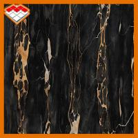 China Cut To Size Black Portoro Italian Marble With Gold Vein For Bathroom Countertop on sale