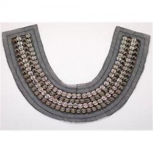 China Eco Friendly Decorative Handmade Plastic V Beaded Collar Neckline on sale