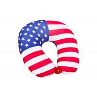 Cheap Personalized US Flag Airplane Neck Pillow , U Shaped Neck Pillow For Travel for sale