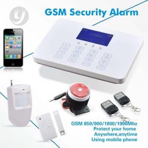 Best Touch Keypad SMS Gsm Alarm System Wireless Burglar LCD Display wholesale