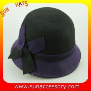 China 2044 ladies fashion hats wholesale ,100% Australia wool felt cloche hats on sale