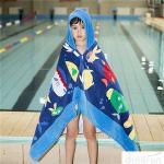 Best Hooded Bath Towel for Kids Under Age 7 Bathrobe Beach Hooded Poncho Towel wholesale