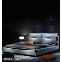 Best Nordic Style Bedroom Furniture Leather Bed Luxury Design Customized Color / Size wholesale