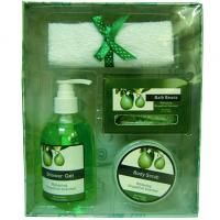 Best Pear Fragrance Bubble Bath Gift Set in Paper Box with Shower Gel 250ml for Women wholesale