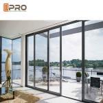 Best Waterproof Commercial Sliding Glass Door Double Glass Aluminium Profile Exterior Sliding Doors door slide aluminium wholesale