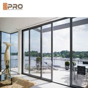 China Waterproof Commercial Sliding Glass Door Double Glass Aluminium Profile Exterior Sliding Doors door slide aluminium on sale
