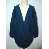 China Comfortable Womens Cardigan Sweaters Navy Blue With Two Lower Pockets on sale