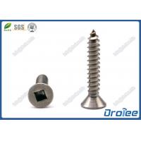 Best Flat Head Square Drive Self Tapping Sheet Metal Screws, Stainless 18/8/ 304/316 wholesale