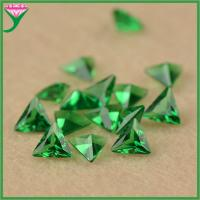 Best wholesale high quality right triangle synthetic light green nano semi precious stone wholesale
