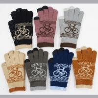 Best 11*20.5cm 52g Nature And Soft 90%Acrylic 5%Spandex 5%Conductive Fiber Cheap Women Winter Knitting Gloves wholesale