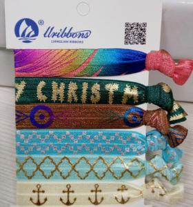 China Kids / Girls Elastic Hair Bands / Hair Ties 8cm Length Various Colors Printed on sale