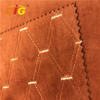 China 100% Polyester Emboss Emboridery  PVC Artificial Leather For Car Seat on sale