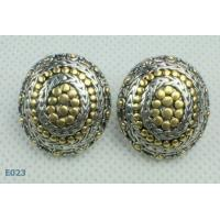 Best Customed Large Round tin alloy Zirconia Stud Earrings pin for women / lady wholesale