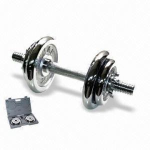 Best 10kg Dumbell Set with Threaded Chrome Bar wholesale