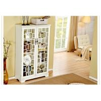 Best Bookcase With Glass Doors , Trustic All White Bookcase Cabinet wholesale
