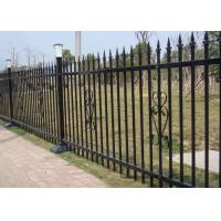 China Powder Coated Security Picket Tubular Steel Fence , Ornamental Fence Panels on sale