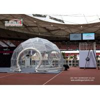 Best Waterproof and flame retardant transparent cover Geodesic Dome Tents 5m Diameter wholesale