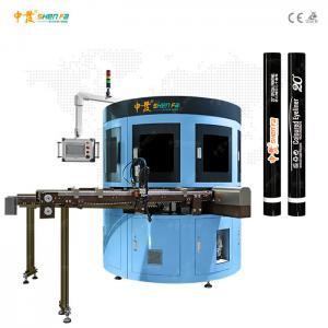 China Small Tube 2 Color Automatic Screen Printing Machine For Lipstick Mascara on sale