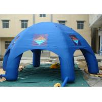 Best Blue Color Inflatable Air Tent , Inflatable Lawn Tent High Stress Reinforced Points wholesale