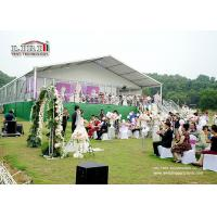 China White , Red , Yellow Luxury Wedding Tents Decoration With PVC Roof Cover For Wedding Party on sale