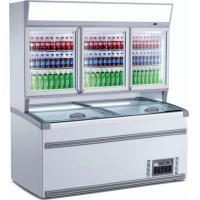China Coated Steel Commercial Display Refrigerator Combo With LED Light on sale