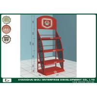 China Custom Oil Display Rack Standing Wine Bottle Black White Red on sale
