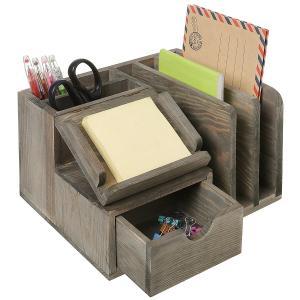 Best Student Neat Wood Desk Organizer Accessories Mdf Multi Functional wholesale