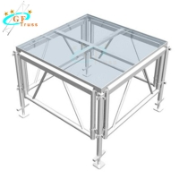 Best TUV Transparent Tempered Glass Stage Max Load 750kg/Sqm wholesale