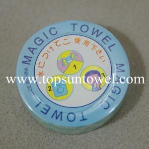 Best 100% cotton plain magic compressed towel wholesale
