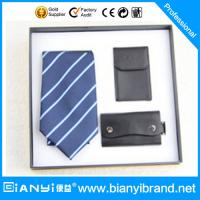 China Fashion polyester mens necktie gift sets for wedding on sale