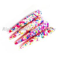Best Colorful Splatter Ear Stretchers Tapers 3 - 25mm , UV Acrylic wholesale