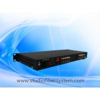 16CH HDCVI to fiber converter in 1U rack mount chassis for 5MP/4mp/3mp/2mp/1mp CCTV surveillance system