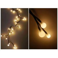 Best 220V Indoor LED String Lights 2.5 Meters 72 Warm White Bulbs For Xmas wholesale