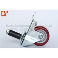 Best Pipe Tote Cart Polyurethane Caster Wheels , Anti Static Casters For Logistcs wholesale