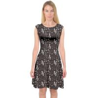 Best Sleeveless Womens Casual Summer Dresses A Line Midi Dress Music Notes Printing wholesale