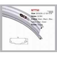 China Colorful MTT50 Bicycle Rim Ground Finish Aluminum Bicycle Wheel 50mm Wide on sale
