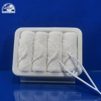 Buy cheap Cotton disposable airline hot and cold aircraft face towel from wholesalers