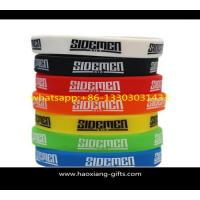 customized any color silicone wristbands/bracelet with your logo