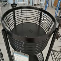 China Customized Retail Display Baskets Metal Wire Pen Stand 4 Castors on sale