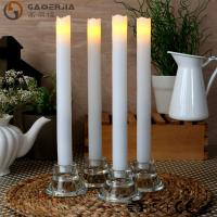 China Remote Control Taper Candles , Flameless Taper Candles With Timer on sale