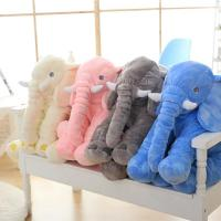 Best Lovely Stuffed Elephant Plush Pillow Custom Color With Cotton Blanket wholesale