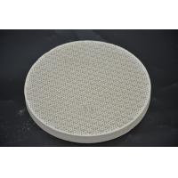 China Round Cordierite Ceramic Heat Resistant Plate For BBQ Stove Grill High Strength on sale