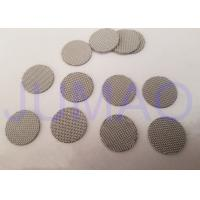 China SS 316 Wire Mesh Filter Disc , Sintered Metal Disc Good Dirt Holding Capacity on sale