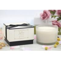 China Customized Soy Wax Room Scented Candles / Home Decor Candles Frosted Gold Stamping on sale