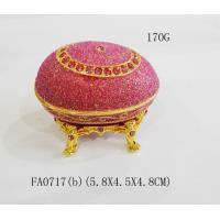 Cheap Faberge Egg Jewelry Boxes Metal Faberge Egg Trinket Boxes for sale