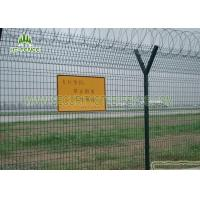 Best Airport Security Welded Mesh Fence / 3D Panel Fence With 50 × 200mm Hole wholesale