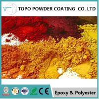 China RAL1004 golden yellow  electrostatic thermoset powder coating for Excellent appearance on sale