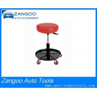 Best Red / Black Rolling Garage Seat , Pneumatic Garage Work Stool wholesale