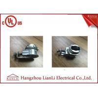 China 3/8 Flexible Conduit Fittings Galvanized Saddle Connector for Metallic on sale